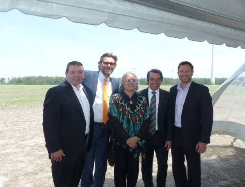 Boralex, ENERCON and the Six Nations of the Grand River Development Corporation inaugurate the Niagara Region Wind Farm (NRWF)