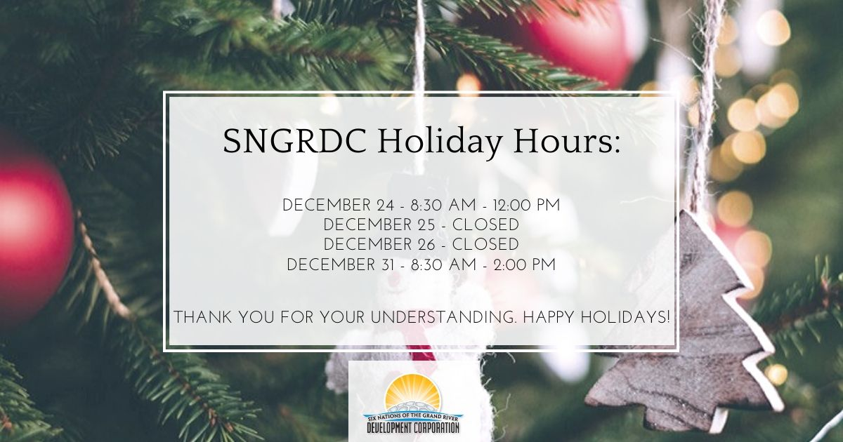 SNGRDC Holiday Hours